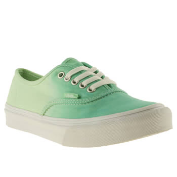 womens vans light green authentic slim trainers