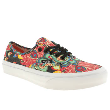 womens vans multi authentic slim peacock trainers