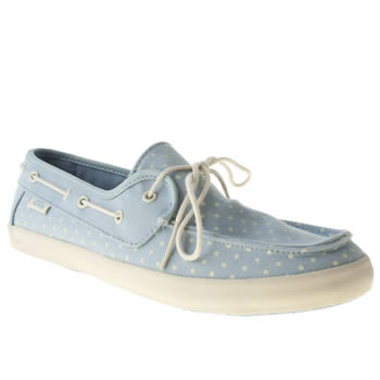 womens vans pale blue chauffette trainers
