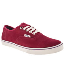 Pink Vans Authentic Lo Pro Vi