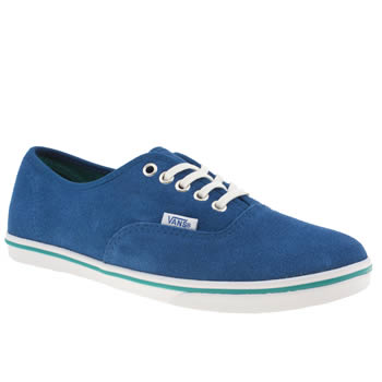 womens vans blue authentic lo pro vi trainers
