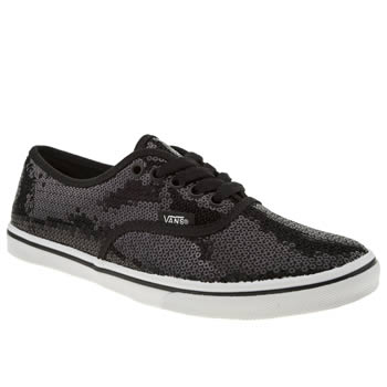 womens vans black & white authentic lo pro vi trainers