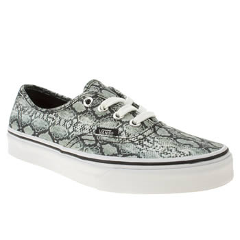 womens vans white & black authentic viiii trainers