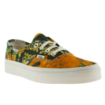 womens vans yellow x della authentic viiii trainers