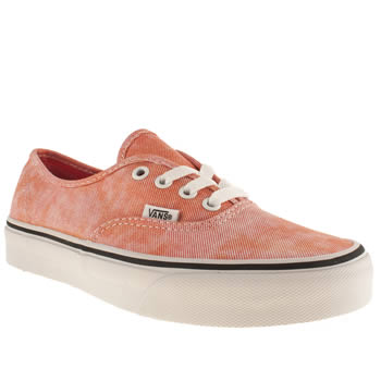 womens vans peach authentic viiii trainers