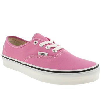 womens vans pale pink authentic viiii trainers