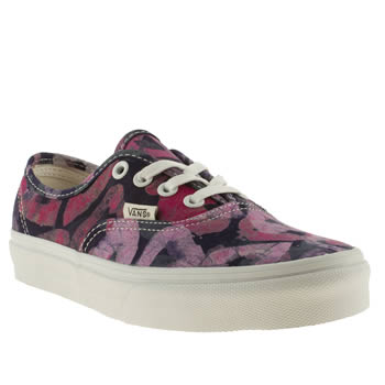 womens vans purple x della authentic viiii trainers