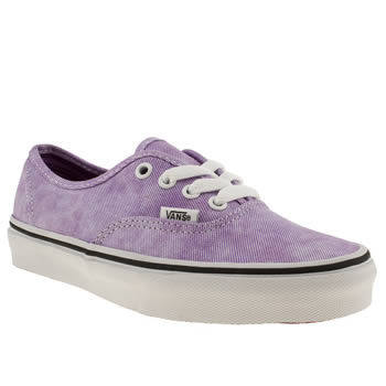 womens vans lilac authentic viiii trainers