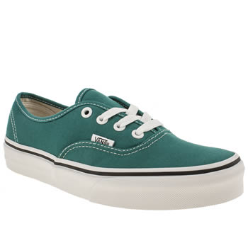 womens vans green authentic viiii trainers