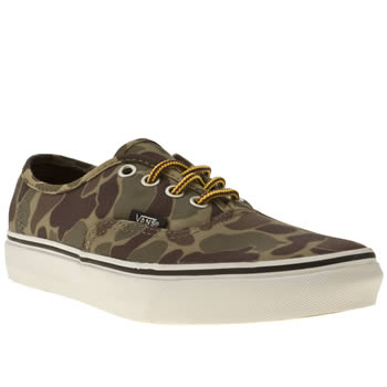 womens vans khaki authentic viiii camo trainers