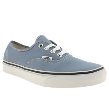 womens vans blue authentic viiii denim trainers