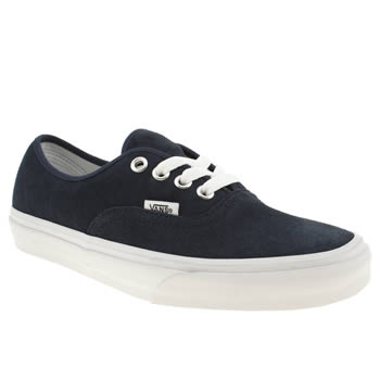 womens vans navy & white authentic viiii trainers