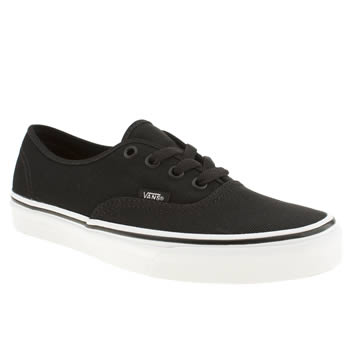 womens vans black & white authentic viiii shimmer trainers