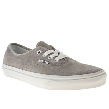 womens vans grey authentic viiii trainers