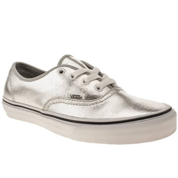 womens vans silver authentic viiii trainers