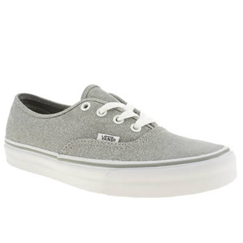 womens vans silver authentic viiii shimmer trainers