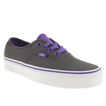 womens vans dark grey authentic viiii trainers