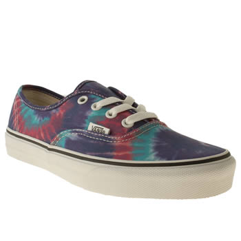 womens vans multi authentic viiii trainers