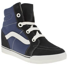 Navy & White Vans Sk8-hi Wedge