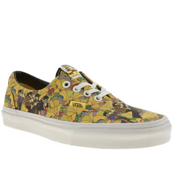 womens vans yellow era iv trainers