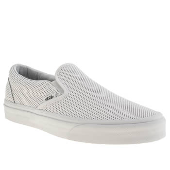 Womens Vans White Classic Slip On Trainers