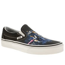 Black and blue Vans Classic Slip On Star Wars