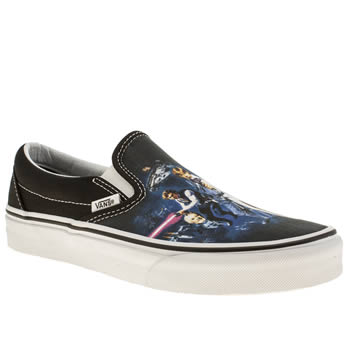 Vans Black and blue Classic Slip On Star Wars Trainers