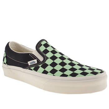 womens vans navy & green classic slip on iii coast trainers