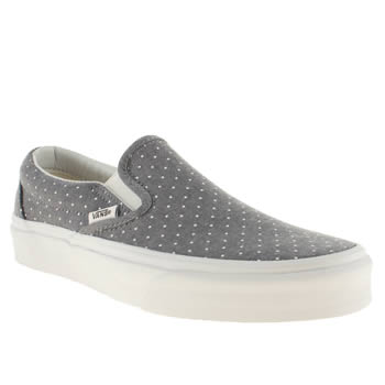 womens vans pale blue classic slip on trainers