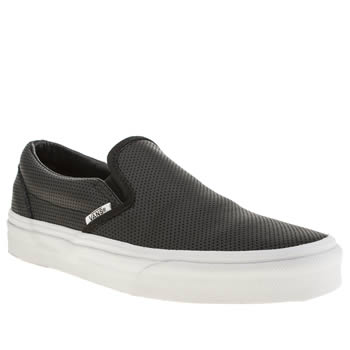 Vans Black & White Classic Slip On Trainers
