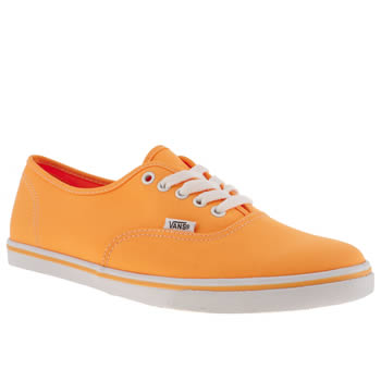 Vans Orange Authentic Lo Pro Vii Trainers
