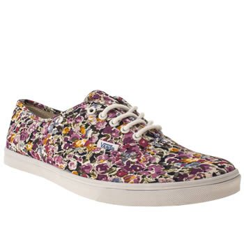 Womens Vans White & Purple Authentic Lo Pro Vii Trainers
