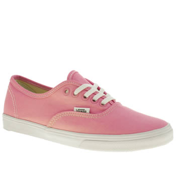 Womens Vans Pale Pink Authentic Lo Pro Vii Trainers