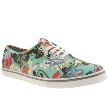 Vans Turquoise Authentic Lo Pro Trainers