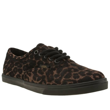 Vans Black & Brown Authentic Lo Pro Leo Trainers
