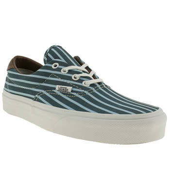 Vans Navy & Pl Blue Era 59 Stripes Trainers