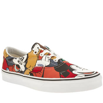 Womens Vans Multi Disney Mickey Era Trainers
