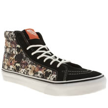 Black & Brown Vans Sk8-hi Slim Ii