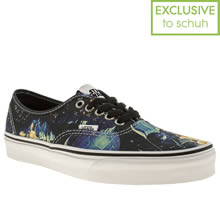 Black and blue Vans Authentic Star Wars