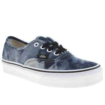 womens vans blue authentic x trainers