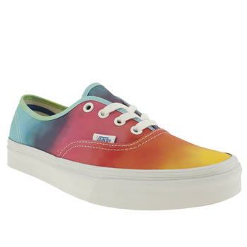 womens vans multi authentic x rainbow trainers