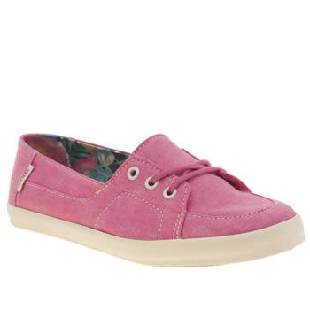 Womens Vans Pink Palisades Vulc Washed Trainers