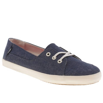 Womens Vans Navy & White Palisades Vulc Trainers