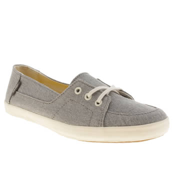 Womens Vans Light Grey Palisades Vulc Trainers