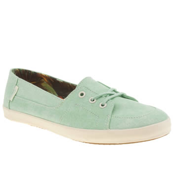 Womens Vans Light Green Palisades Vulc Washed Trainers