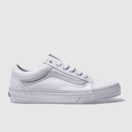 womens white vans skool trainers schuh
