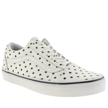 Vans White & Black Old Skool Polka Dots Trainers