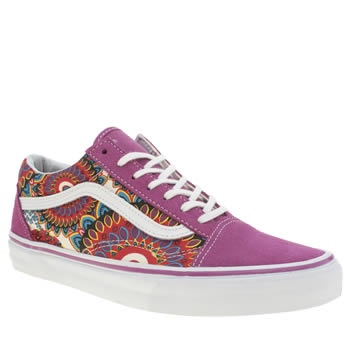 Vans White & Purple Old Skool Trainers