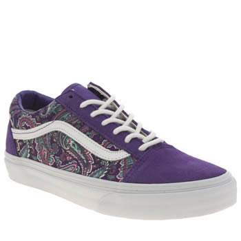 Womens Vans Purple Old Skool Trainers
