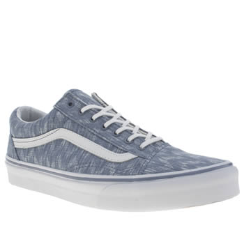 Womens Vans Pale Blue Old Skool Trainers